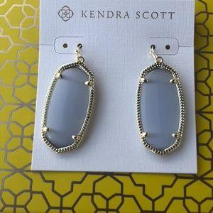 Kendra Scott Elle Gold Slate Cat's Eye Earrings